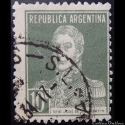 Argentine 00302 général José Francisco de San Martin 10c de 1924
