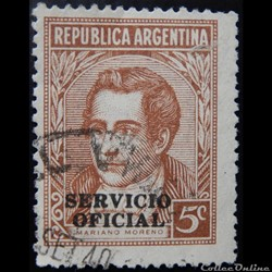 Argentine S0340 Mariano Moreno 5c de 1939
