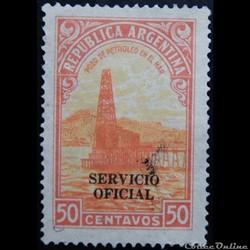 Argentine S0346 puits de pétrole 50c de 1937