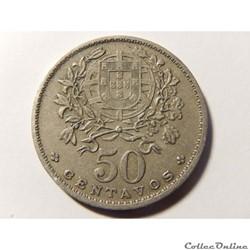 Portugal, 50 centavos de 1959