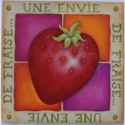 """CP Peinture """"Une envie de fraise..."""""""