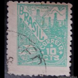 Brésil 00464 industrie du pétrole 10c de 1946