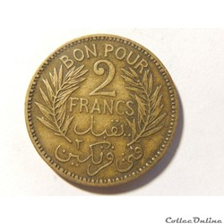 Bon pour 2 francs de 1941