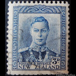 Nouvelle-Zélande 00239A roi George VI 3p de 1941