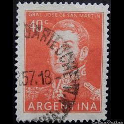 Argentine 00569 général José Francisco de San Martin 40c de 1956