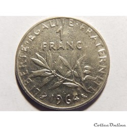 1 franc semeuse 1964