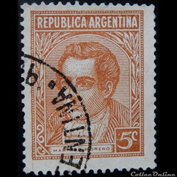 Argentine 00368 Mariano Moreno 5c de 193...