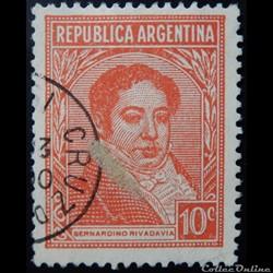 Argentine 00370 Bernardino Rivadavia 10c de 1935