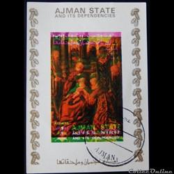 Ajman State 02804BwBL adoration des mage...