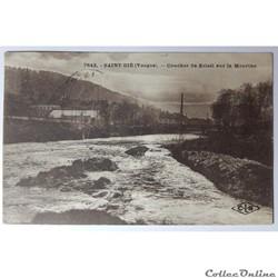 CPA des Vosges, Saint-Dié, coucher de soleil sur la Meurthe