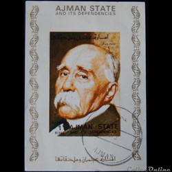 Ajman State 02898AwBL Georges Clemenceau...