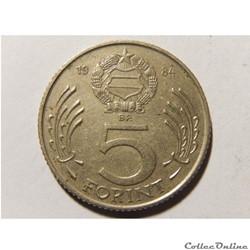 Hongrie, 5 Forint 1984