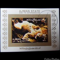 Ajman State 02847A Lion 1R de 1973