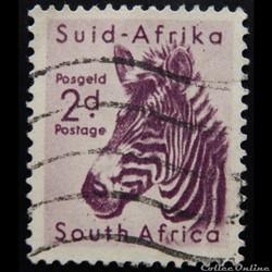 Afrique du Sud 00204 Zèbre 2d de 1954