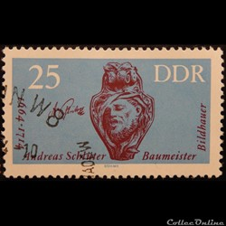 Allemagne RDA 00713 Andreas Schlüter 25p...