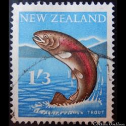 Nouvelle-Zélande 00393 truite arc-en-ciel 1'3s de 1960