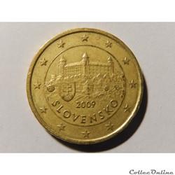 Slovaquie, 50 centimes d'euro 2009