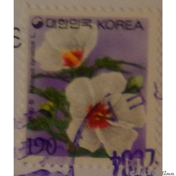 Corée du Sud 01938 fleur, Hibiscus 190W ...