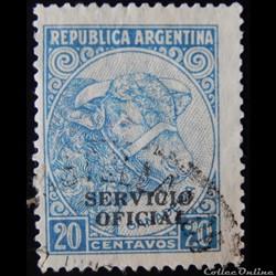 Argentine S0344B élevage de bovins 20c de 1951