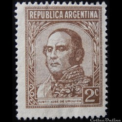 Argentine 00365 général Justo José de Urquiza 2c de 1935