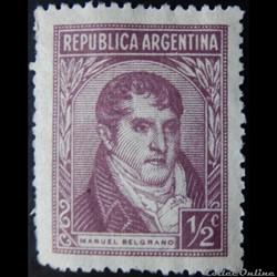 Argentine 00471 général Manuel Belgrano 1/2c de 1946