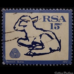 Afrique du Sud 00336 Agneau 15c de 1972