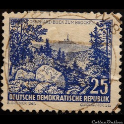 Allemagne RDA 00531 vue sur Brocken, Obe...
