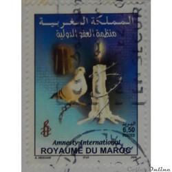 Maroc 01369 Amnesty International 6.50d ...