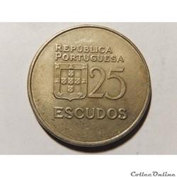 Portugal, 25 escudos de 1983