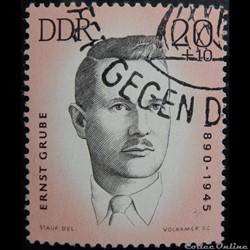Allemagne RDA 00689 Ernst Grube 20+10pf ...