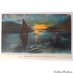 CPA des Vosges, Gérardmer, coucher de soleil sur le lac