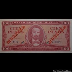 100 pesos 1961 Muestra