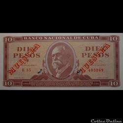 10 Pesos 1961 Muestra