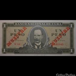 01 Pesos 1961 Muestra