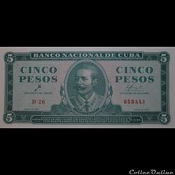 05 Pesos 1961