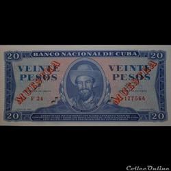 20 Pesos 1961 Muestra