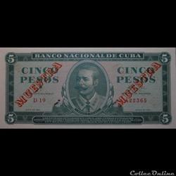 05 Pesos 1961 Muestra