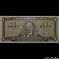 01 Pesos 1961 Spécimen