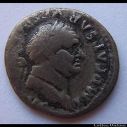 Denier - Vespasien ( PON MAX TR P COS V , atelier de Rome) ( 74 )