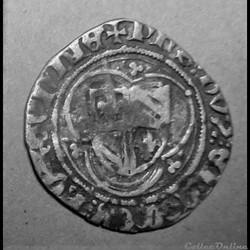 Blanc de Philippe le bon à l'écu de Bourgogne dans un trilobe