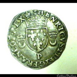 HENRI  II   douzain aux croissants  1557