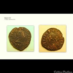 HENRI III denier tournois 1587