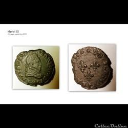 HENRI III double tournois 1584