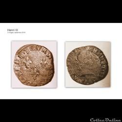 HENRI III double tournois 1578