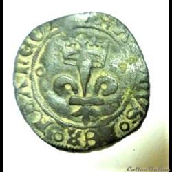 CHARLES VIII  1438-1498 double  tournois...