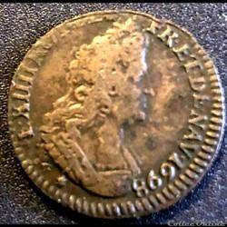 LOUIS XIV Liard 1698 P