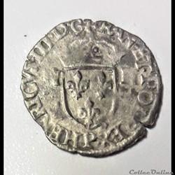 HENRI  III   Douzain aux deux H  1 er type 1577 P