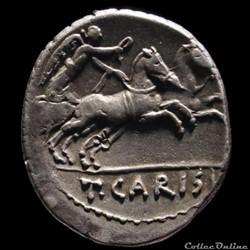 coin ancient roman carisia denier