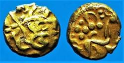 statère d'or biface au flan court