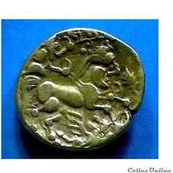 monnaie antique gauloise serie 284 quart de statere au rameau et a epi